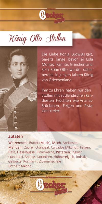 Flyer zum König Otto Stollen