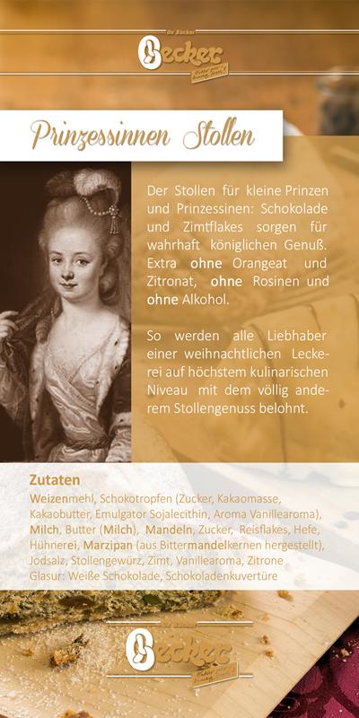 Flyer zum Prinzessinnen Stollen