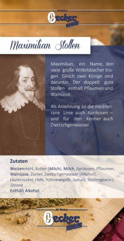 Produktflyer Maximilian Stollen