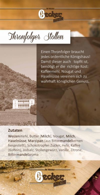 Produktflyer Thronfolger Stollen