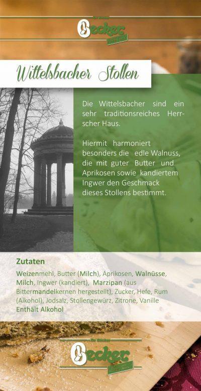 Produktflyer Wittelsbacher Stollen